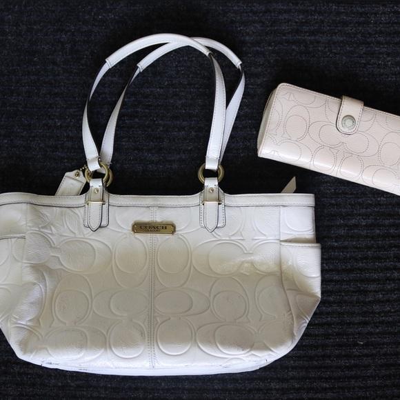 Coach Handbags - Coach Shoulder Bag & Matching Wallet